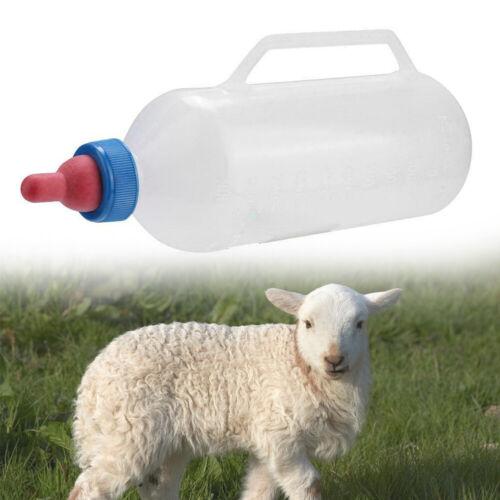 1.5L White Lamb Nursing NEW Feeding Goat Milk Bottle with Handle Plastic Durable