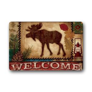 Home-Decor-Floor-Mat-Welcome-Moose-Non-Slip-Rubber-Indoor-Or-Outdoor-Doormat