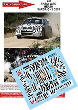 DÉCALS 1/18 réf  938 Skoda FABIA WRC HEATH SARDAIGNE 2005
