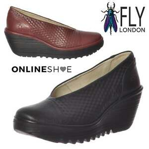 Donna-Fly-London-Yena-685-Fly-Zeppa-Punta-Arrotondata-Scarpe-Col-Tacco