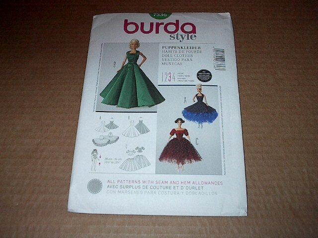 Burda 11½ Barbie Doll Clothes Dress Ballerina Outfit Sewing Pattern ...
