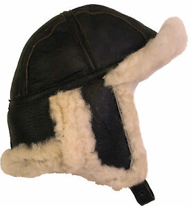 3201d2bddff Image is loading UNICORN-Real-Sheepskin-Leather-Aviator-B52-Trapper-Hat-