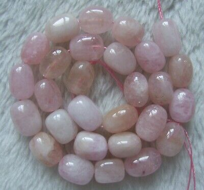 "1Strand Morganite?Smooth Freeform Loose Bead 15.5/"" 14x8x5mm//10x10x4mm 170SS"