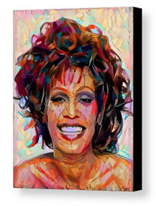 Framed-Abstract-Whitney-Houston-8-5X11-Art-Print-Limited-Edition-w-signed-COA