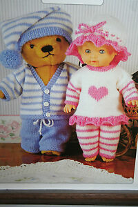Doll and Teddy Bear Clothes Knitting Pattern eBay