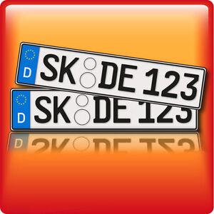 1 paar kfz kennzeichen autokennzeichen autoschilder kennzeichen ebay. Black Bedroom Furniture Sets. Home Design Ideas