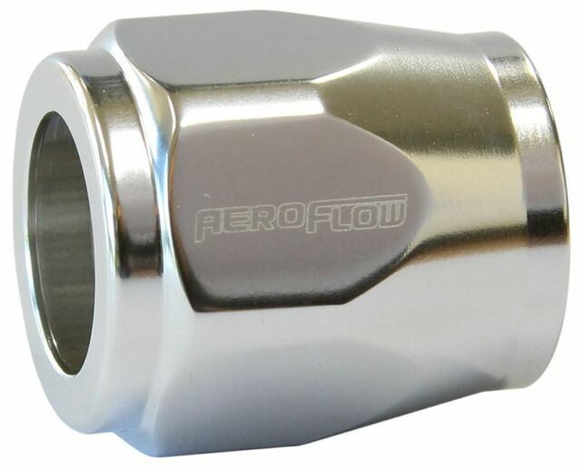"""Aeroflow AF150-04S Hex Hose Finisher 12mm ID Silver 1/2"""" ID Clamp"""