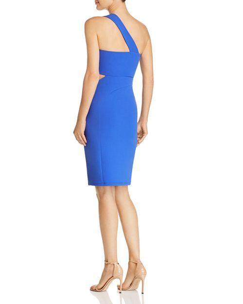 395 LAUNDRY BY SHELLI SEGAL WOMEN blueE blueE blueE ONE-SHOULDER CUTOUT BODYCON DRESS SIZE 6 6477ad