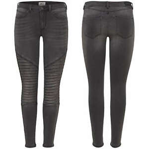 fd6802a61d23 Details about Women's Jeans Leggings Onlroyal Reg Sk Biker Ankle BJ312B  Jeggings Trousers Grey
