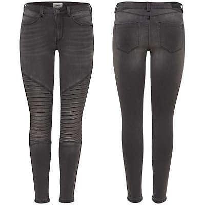 ONLY Damen Jeans Leggings onlROYAL REG SKINNY BIKER BJ11503 Jeggings Hose blau