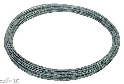 100/' Antenna Guy Wire Plastic Coated Galvanized 6//20 Guy Wire for Mast EZ 60
