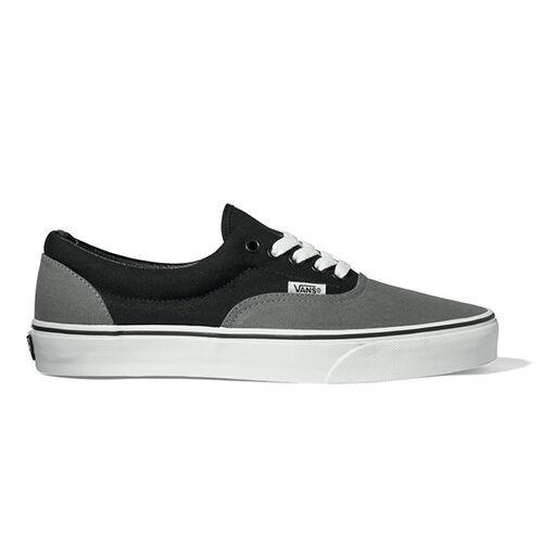 fa79ec34c6 VANS Era Skate Shoes Pewter Black Canvas Men 8.5 for sale online
