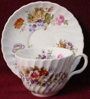 AYNSLEY china SUMMERTIME pattern CUP & SAUCER Set