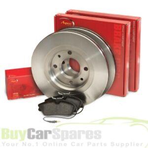 Arriere-de-l-039-APEC-Disque-De-Frein-Paire-et-Pads-Set-for-Toyota-Prius-1-5-LTR