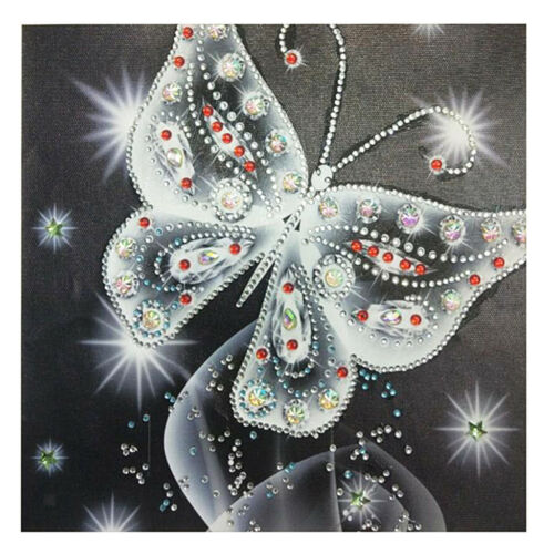 DIY Diamond Painting Partial Special Drill Sparkly White Butterfly Picture