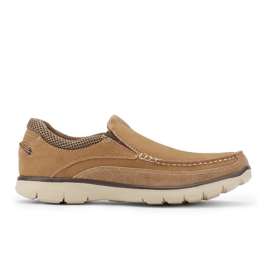 Dockers Walsh 90-30813 Hombre Cuero Nobuck Marrón Sin Cordones Informal Zapato