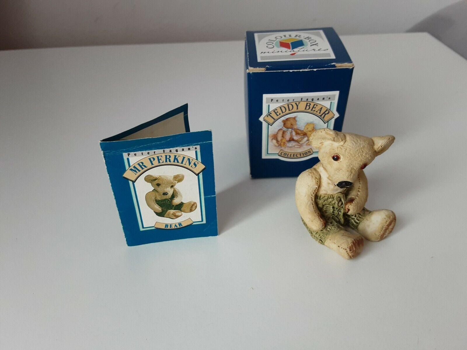 Colourbox Miniatures Teddy Bear Collection (Peter Fagan's) Mr Perkins TC456