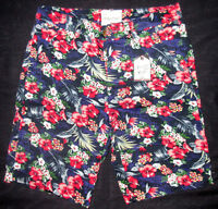 Mens Sovereign Code Floral Button Fly Shorts Size S
