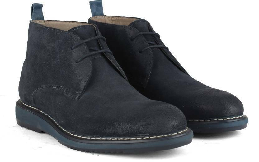 Clarks Mens Kenley Mid bluee Suede Ankle Boots UK Sizes 10 G