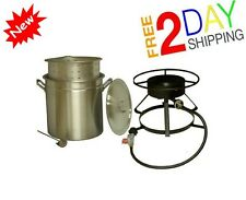 Crawfish Seafood Cooker Outdoors Steam Cooking Cajun Boil Lobster Crabs Pot Food