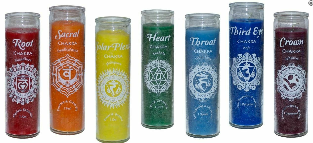 Chakra 7 Day Candles - Complete Set  of 7 pieces