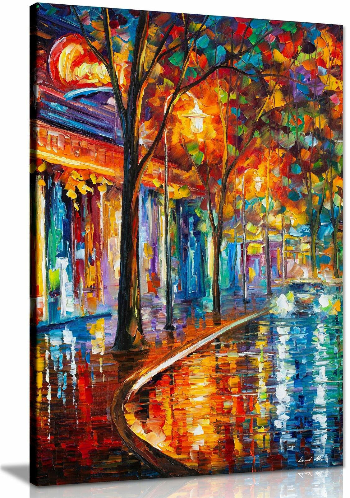 AT54378D Freshness Of Cold By Leonid Afremov Canvas Wall Pictures Abstract Art