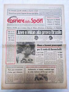 CORRIERE-DELLO-SPORT-25-8-1978-CITTA-039-DI-MILANO-MILAN-JUVENTUS-BOTAFOGO-FLAMENCO