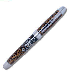 """ACME Studio """"Obey Gold/Silver Color Test"""" RollerBall Pen Shepard Fairey NEW"""