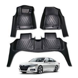 For-Honda-Accord-2018-2019-Car-Floor-Mats-5D-Waterproof-Pads-Liner-Durable-3pcs