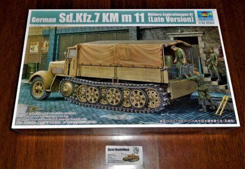 Trumpeter 01507 WWII German Sd.Kfz.7 Mittlere Zugkraftwagen8t Late Version 1:35
