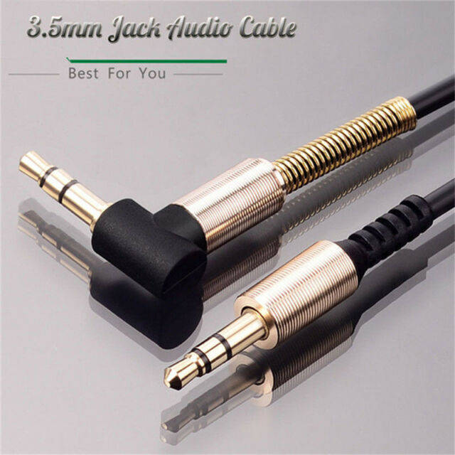 3.5mm Jack Cord Stereo Audio Cable Male To Male 90 Degree Right Angle Aux Cab IJ