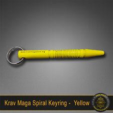 Krav Maga Self-Defence SPIRAL Yellow Key Ring Solid Alloy Tactical
