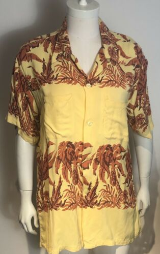 Vtg 50s Arrow HAWAIIAN Rayon Shirt XL. As Is