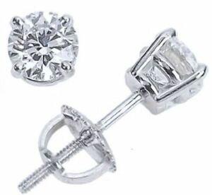 1-ct-White-Sapphire-Screw-Back-Stud-Earrings-in-14k-White-Gold-Silver