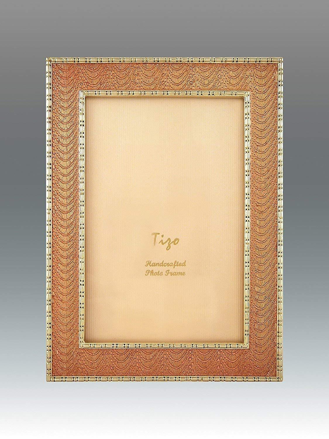 Tizo 4  X 6  Elegant gold Enamel Frame, Made in