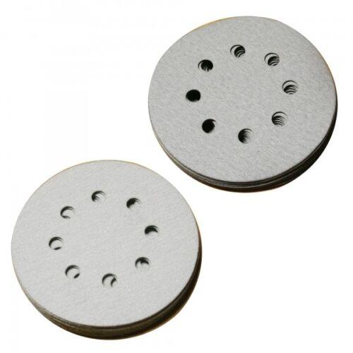 6003 10 Pièces Meules 8 trous Ø 125 mm velcro métal verni p60-p600