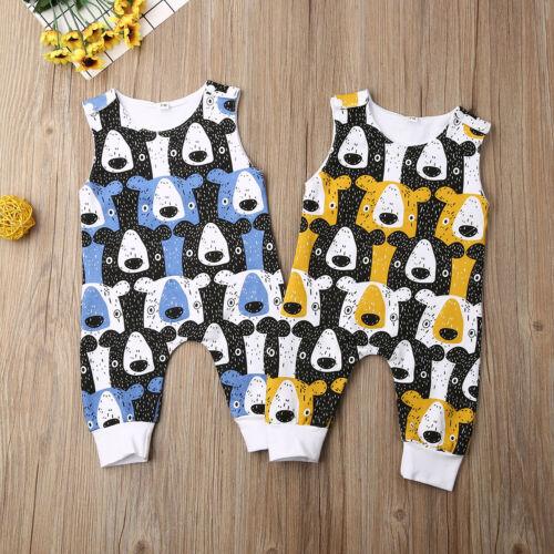 US Stock Newborn Baby Boy Girl Romper Bodysuit Sunsuit Summer Outfit Set Clothes