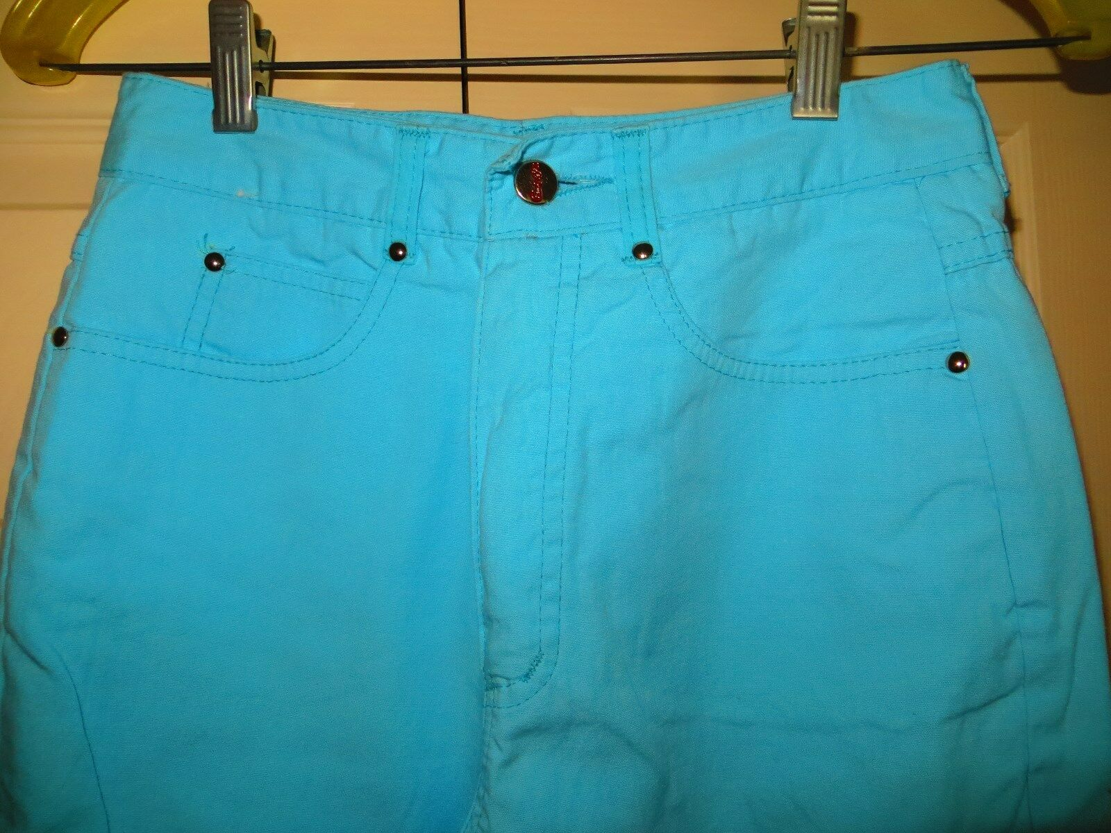 womans skinny jeans pants blue cotton 31/28 Chemi… - image 9