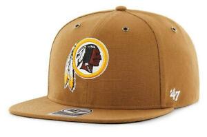 WASHINGTON REDSKINS NFL CARHARTT '47 CAPTAIN HAT CAP STRAPBACK RETIRED LOGO NEW!