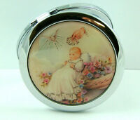 On Sale Baby Picture Chrome Compact Regular And Magnified Cosmetic Mirrors