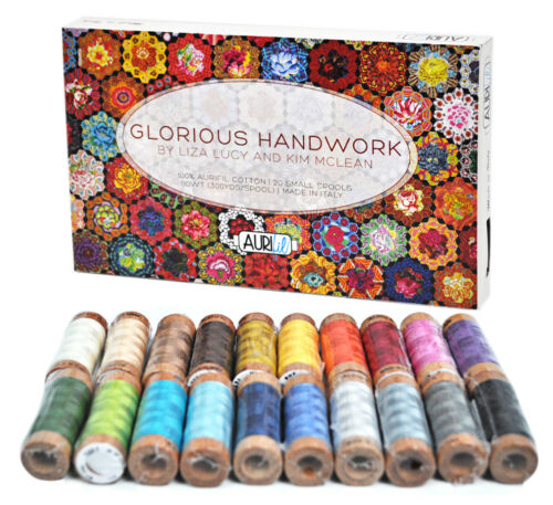 Glorious Handwork Thread by Liza Lucy and Kim McLean 80wt 20 Small Spools