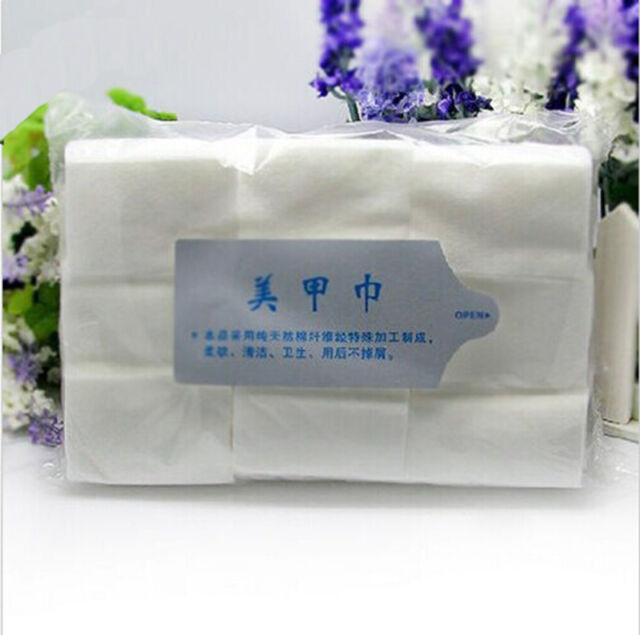 Cotton Type Nail Wipes Lint Cleaner Paper Pad Acrylic Gel Polish for Remove vK
