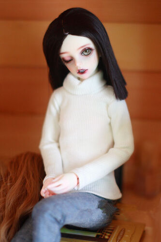 BJD doll white choker sweater for 1//3 1//4 BJD MDD doll accessories doll clothes