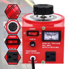 500watt Transformer Variable 500va Ac Voltage Regulator Metered 5a 110v