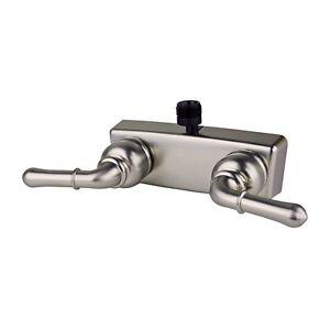 rv mobile home bath shower 4 shower faucet brushed nickel ebay. Black Bedroom Furniture Sets. Home Design Ideas