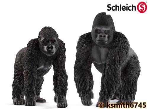 Schleich Gorilla Foraging Coffret Plastique Wild Zoo Animal Singe Ape nouveau