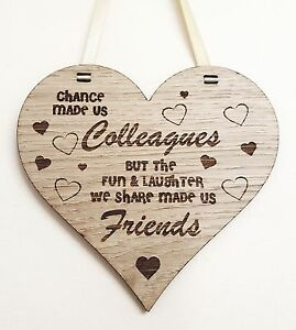 Details About Personalised Wooden Plaque Colleague Gift Leaving Work Christmas Friend New Job