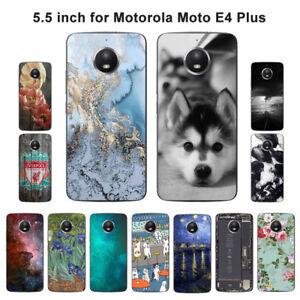 newest 0ccf5 ba351 Soft TPU Silicone Case For Motorola Moto E4 Plus Phone Back Covers ...