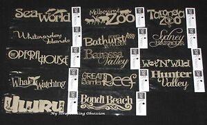 Choose from 24 SCRAP FX Chipboard Wordlets /'EUROPEAN COUNTRIES /& PLACES/'