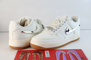 88d0890581a3d2 Nike Air Force 1 Low Travis Scott Sail Gum AQ4211-101 7-13 prm ...